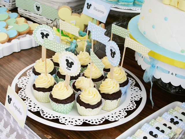 Cupcakes candy bar Cumpleaños michey mouse bebe