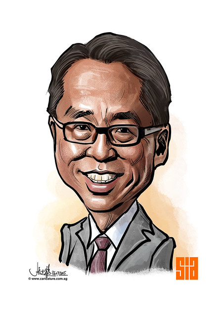 Digital caricature for Singapore Institute of Architects - 3