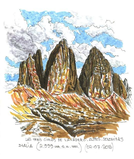 Las tres cimas de Lavadero (2.999 m.s.n.m.). Italia