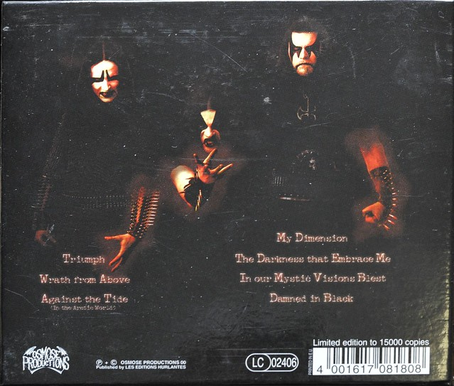 IMMORTAL DAMNED IN BLACK Limited Picture Box case French Import