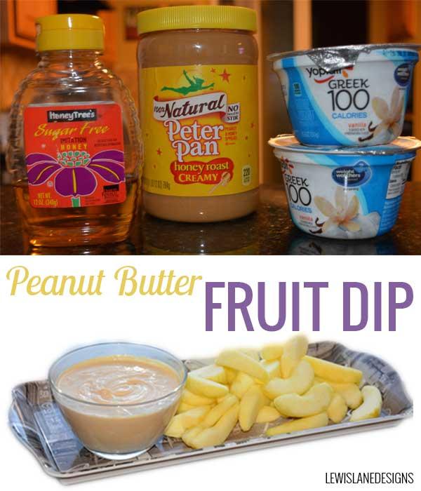 Peanut Butter Fruit Dip by Lewis Lane