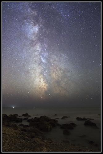 Voie lactée au bord de la mer - 20150809
