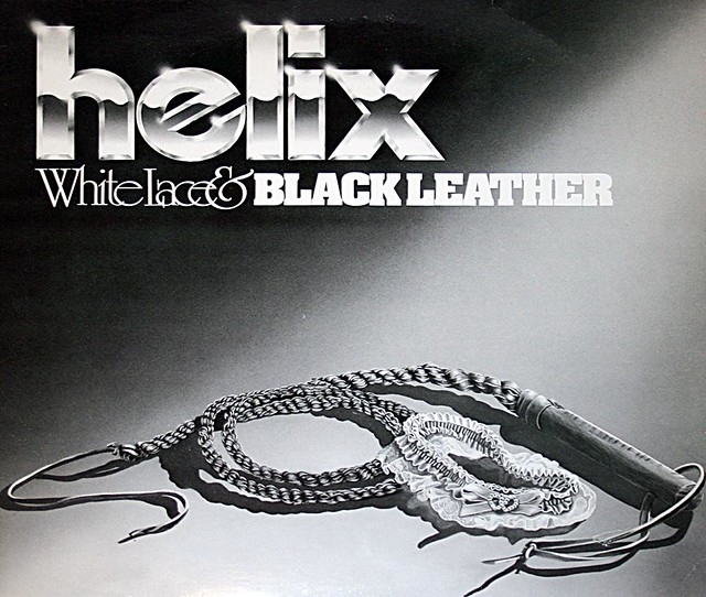 "HELIX WHITE LACE & BLACK LEATHER 12"" LP"