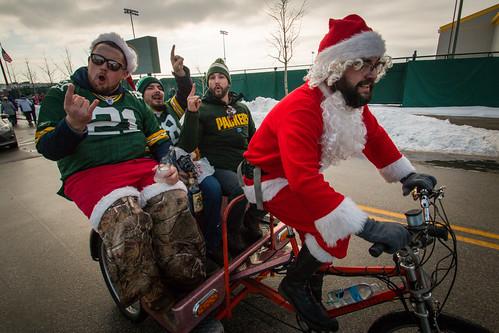 Santa Transporting Fans