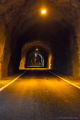 Typical one way tunnel from Faroe Islands