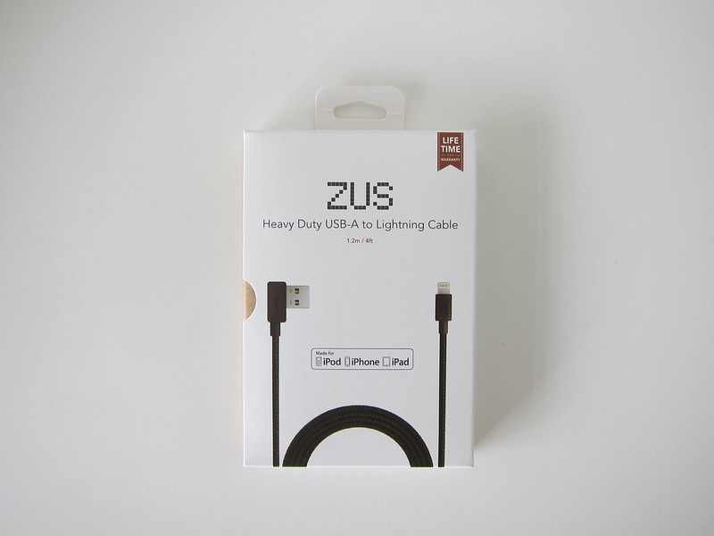 ZUS Super Duty Lightning Cable - Box Front