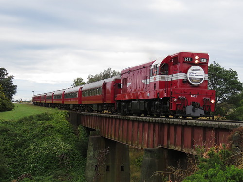 gmemdg12 nzr da 1431 da1431 daclass decodelightexpress steaminc emdg12 locohauledpassengertrain newzealand