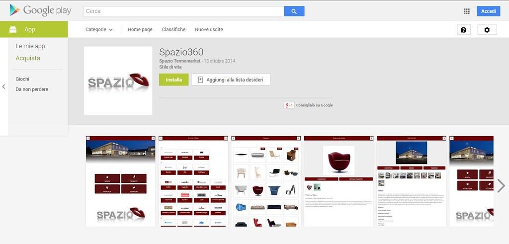 La APP spazio360 ora disponibile su appstore e google play store