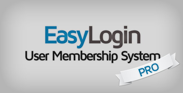 EasyLogin Pro v1.2.10 - User Membership System