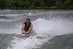 waterskiing, water, sports, rapid, river, wind wave, extreme sport, wave, water sport,