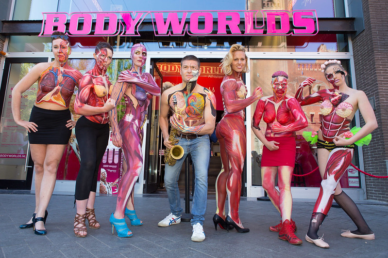 'Under Your Skin' bodypaint event @ BODY WORLDS: The Happiness Project