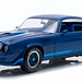 12904 - 1-18 Camaro - 1979 Chevy Camaro Z28 - Dark Blue Metallic with Blue Stripes - Hardtop (Front,High Res) by GreenLight Collectibles