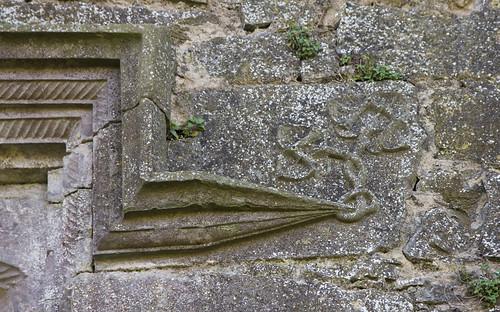 knotwork window detail on Grannagh Castle