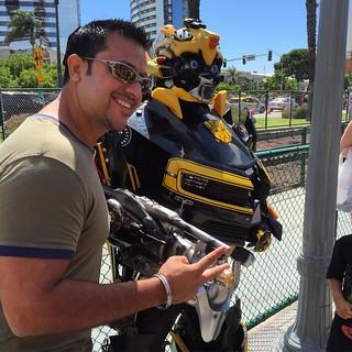 More than meets the eye. Bumblebee's entourage #ComicCon #SanDiego