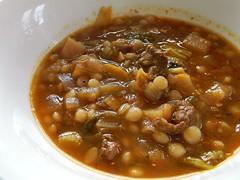 Vegetable Beef Couscous Soup