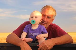 Grandpa/Farmer Randy and Brady.