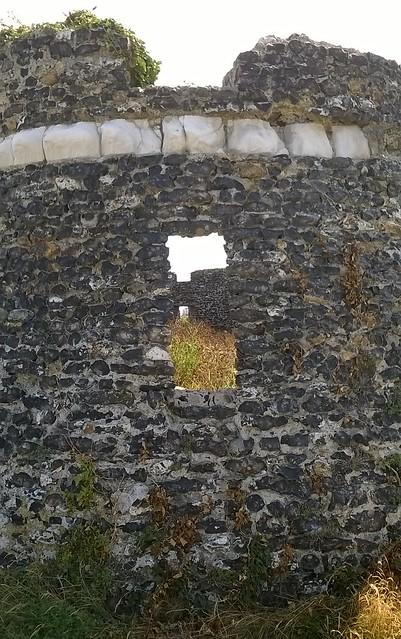 View through a martello castle