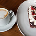 My cappuccino and Black Forest cake