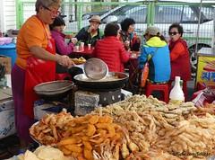 Sea food stall at Sokcho, Korea