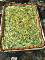 Smitten Kitchen's spinach sheet pan quiche