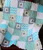 Aqua elephant quilt