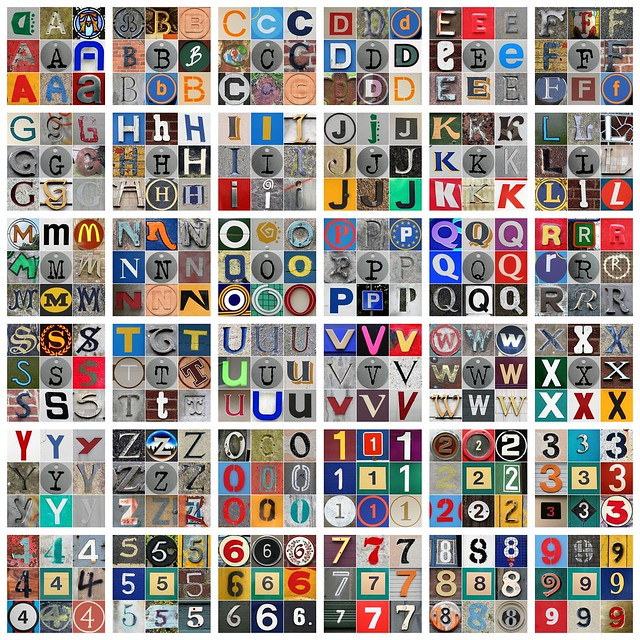 Letter And Number Mosaics Mosaic Letter And Digit