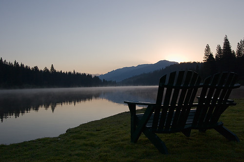 lake mountains forest sunrise dawn sequoianationalforest humelake