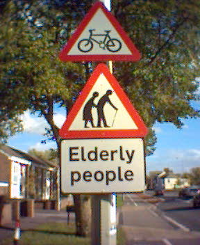 Elderly People sign