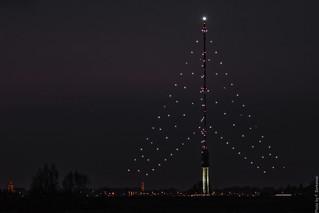 Gerbrandytoren by night - (Biggest Christmas tree in the world) - IJsselstein