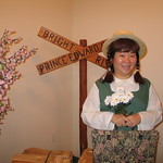 dressed as Anne of Green Gables