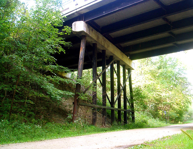 The Old Vinehill Bridge over the trail