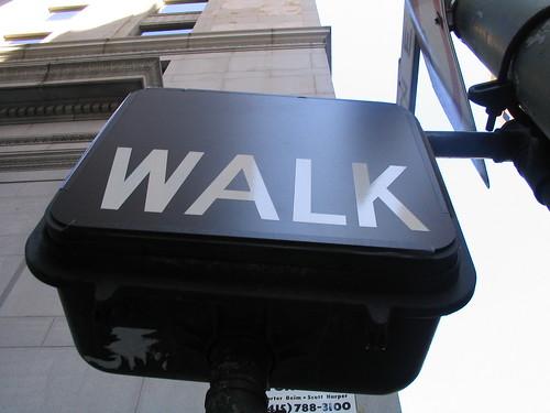 walk street sign