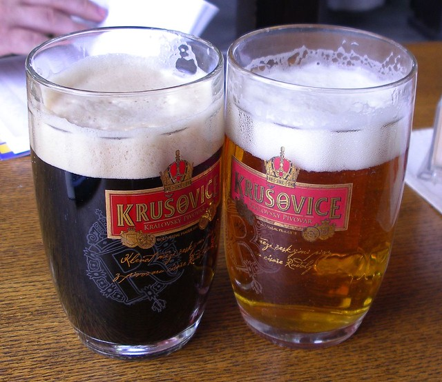 Two Beers - Krusovice