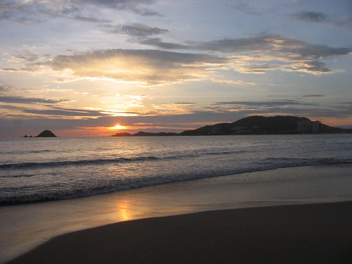 First sunset in Ixtapa