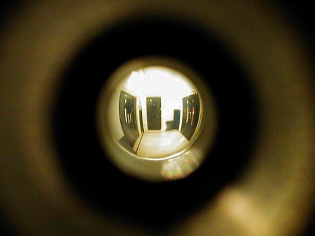 view thorugh a spyhole