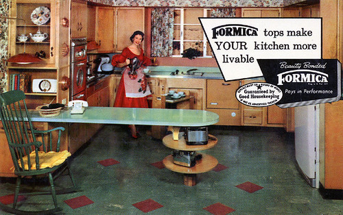Formica Advertising Postcard, 1950's