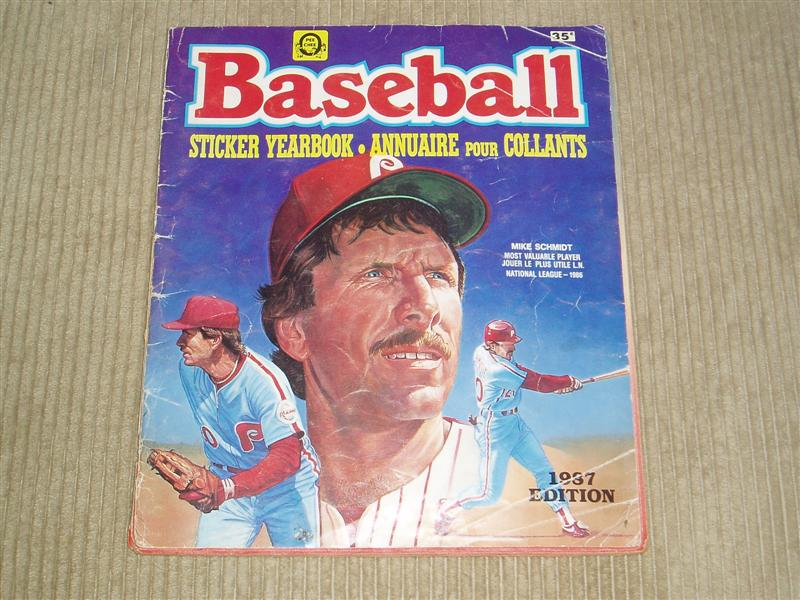 1987 Baseball Sticker Yearbook