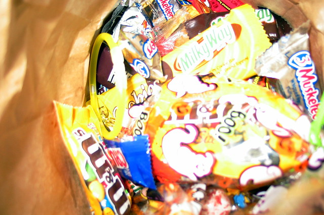 "food pr0n: ""Paper Bag of Halloween Candy"" iii"