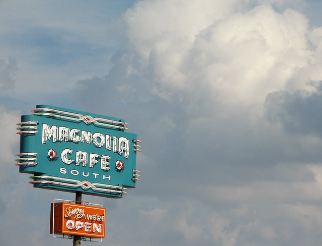 Magnolia Cafe sign, Austin