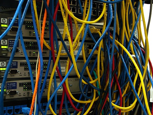 Network cables - mess :D | by * Jerry *