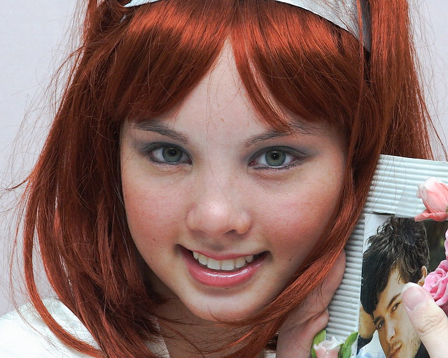Redhead green eyes