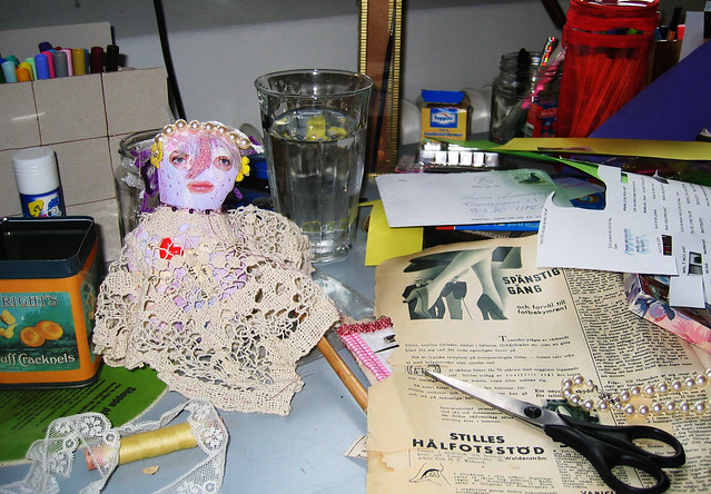 Art doll #3 on my desk