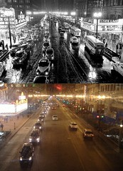 Then and Now: State & Lake at Night