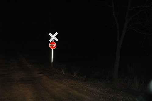 A Lonely Level Crossing at Night