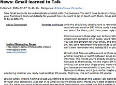 MS pwn3z Google's Talk with Google's own ad network