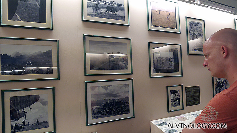 Lots of war photos on display