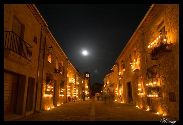 Noche velas Pedraza fotografías