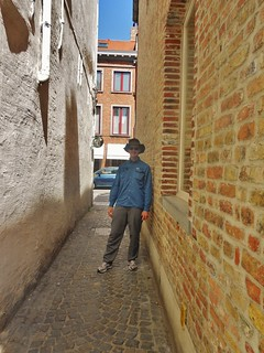 "Dennis in the Bruges ""Red Light"" District"