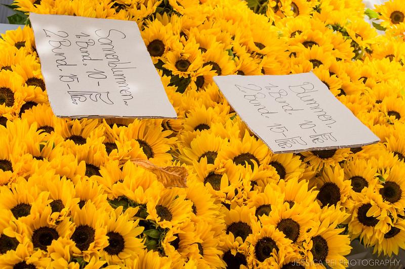 Sunflowers Market Lucerne Switzerland