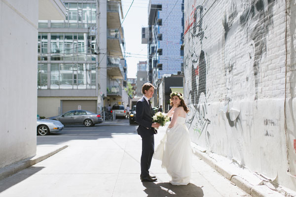 Celine Kim Photography Bellwoods Brewery intimate city wedding Toronto vintage ttc streetcar-37